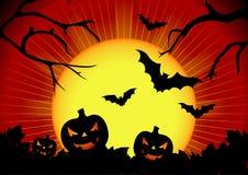 Vector illustratie op een thema van Halloween Stock Afbeeldingen