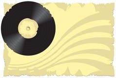 Vector illustratie, oud vinyl Stock Afbeeldingen