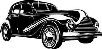 Vector illustratie retro auto Royalty-vrije Stock Foto