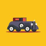 Vector illustratie retro auto Stock Afbeeldingen