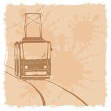 Vector illustratie tramspoor stock illustratie