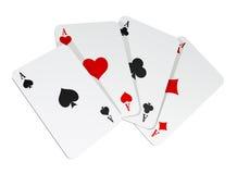 Vector illustratie van 4 kaarten Royalty-vrije Stock Foto's