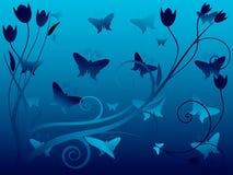 Vector Illustratie van Abstracte bloemenachtergrond Stock Foto's