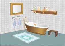 Vector illustratie van badkamers Royalty-vrije Stock Foto