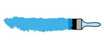 Borstel en blauwe verf met ruimte voor uw Royalty-vrije Stock Afbeeldingen