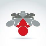 Vector illustratie van commercieel team Royalty-vrije Stock Afbeeldingen