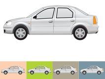 Vector illustratie van de auto in grijze kleuren Stock Fotografie