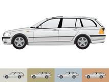 Vector illustratie van de auto in grijze kleuren Royalty-vrije Stock Afbeelding