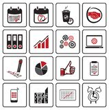 Bedrijfs pictogrammen Royalty-vrije Stock Foto