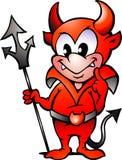 Vector illustratie van de een weinig Rode Jongen van de Duivel Stock Foto's