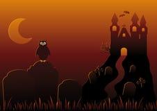 Vector Illustratie van de Nacht van Halloween Royalty-vrije Stock Afbeelding