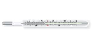 Vector illustratie van de thermometer Royalty-vrije Stock Afbeelding