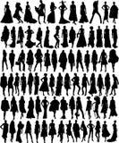 Vector illustratie van de vrouwelijke modellen van de Glamour Royalty-vrije Stock Foto's