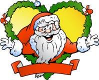 Vector illustratie van de Welkom hetende Kerstman Stock Foto