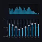 Vector illustratie van digitale equaliser Stock Afbeeldingen