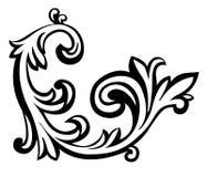 Vector illustratie van een abstract bloemenelement Stock Foto