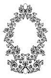 Vector illustratie van een abstract bloemenframe Royalty-vrije Stock Foto's