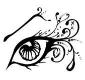 Vector illustratie van een abstract oog Royalty-vrije Stock Fotografie