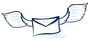 Vector illustratie van een abstracte envelop Stock Foto