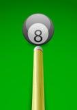Vector illustratie van een biljartbal met stok Royalty-vrije Stock Foto