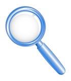 Vector illustratie van een blauw onderzoekspictogram Royalty-vrije Stock Afbeeldingen