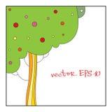 Vector illustratie van een boom Stock Fotografie