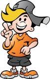 Vector illustratie van een gelukkige Jongen van de School Stock Foto