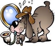 Vector illustratie van een Hond van de Inspecteur Stock Foto's