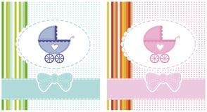 Vector illustratie van een jongen en een meisje Royalty-vrije Stock Foto's