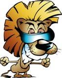 Vector illustratie van een Koele Koning van de Leeuw Royalty-vrije Stock Afbeelding