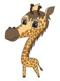 Vector Illustratie van een leuke giraf Stock Foto's