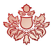 Vector illustratie van een rode abstracte bloem Stock Foto