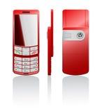 Vector illustratie van een rode cellphone Stock Afbeelding