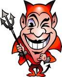 Vector illustratie van een Rode Duivel Stock Afbeeldingen