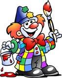 Vector illustratie van een Schilderende Clown Royalty-vrije Stock Afbeelding