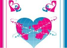 Vector illustratie van een wereldliefde. Royalty-vrije Stock Foto