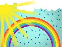 Van de achtergrond regenboog malplaatje Stock Illustratie