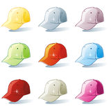 Vector illustratie van geïsoleerdef hoedenreeks Royalty-vrije Stock Foto's