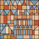 Vector illustratie van gekleurd ornament naadloos patroon vector illustratie