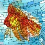 Vector illustratie van gouden vissen. Royalty-vrije Stock Foto's