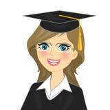 Het meisje van de graduatie Stock Foto