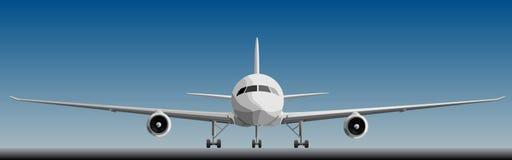 Vector illustratie van grote airplan vooraan. Royalty-vrije Stock Afbeelding
