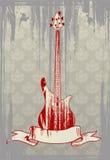 Vector illustratie van grungy basgitaar Royalty-vrije Stock Foto
