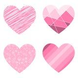 Vector illustratie van harten Stock Afbeelding