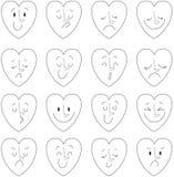Vector illustratie van harten emoties Stock Afbeelding