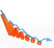 Vector illustratie van het dumpen van grafiek Royalty-vrije Stock Foto
