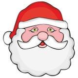 Vector illustratie van het hoofd van de Kerstman Stock Afbeelding