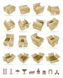 Vector Illustratie van het verschepen van doos Royalty-vrije Stock Afbeeldingen