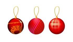 Vector illustratie van Kerstmisstuk speelgoed stock illustratie