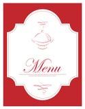 Vector illustratie van menu Stock Foto's